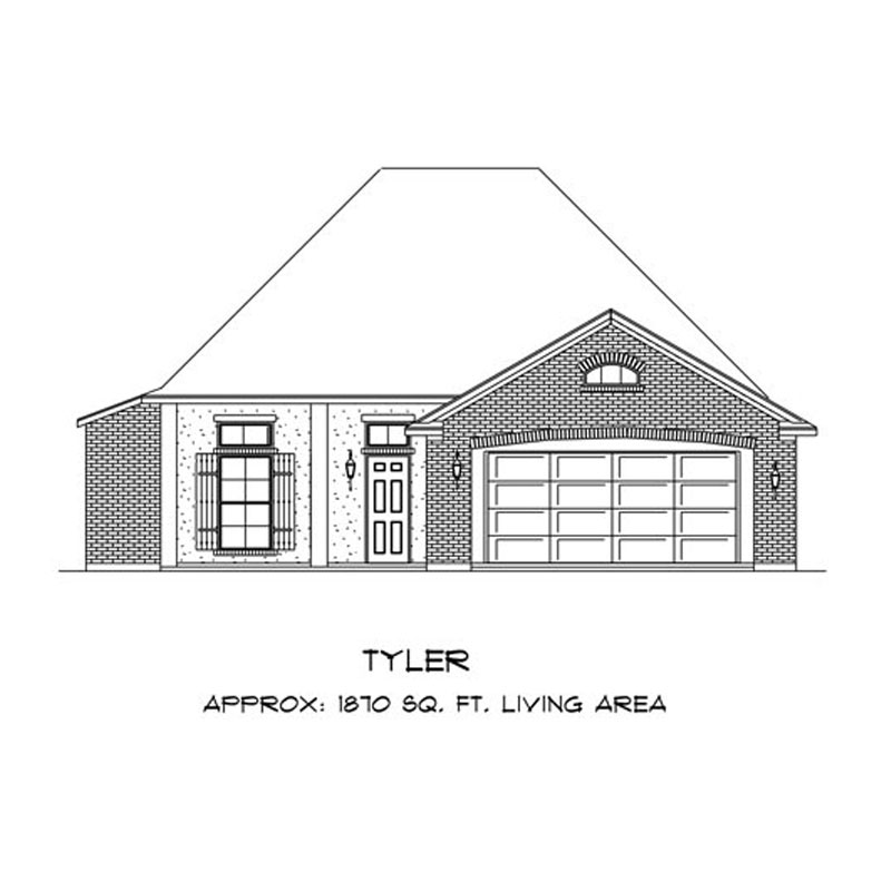 Tyler Elevation - Cormier Homes